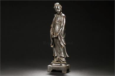 红铜麻姑仕女造像