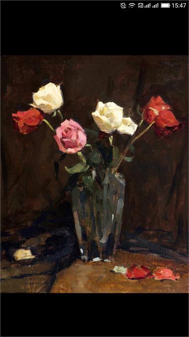 张义波 《瓶中的玫瑰》