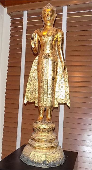 铜鎏金释迦牟尼佛无畏印立像