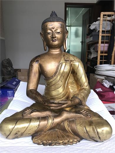 鎏金铜释迦牟尼坐像