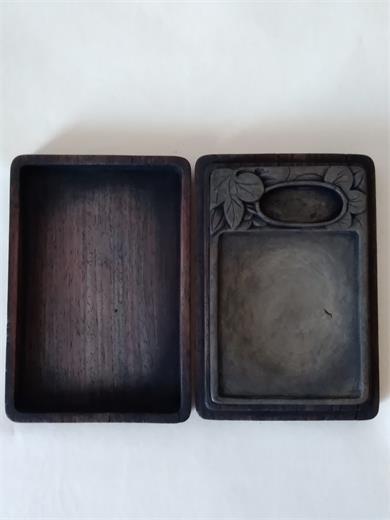 清末红木盒端砚