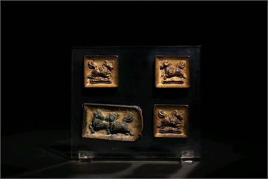 铜鎏金带板
