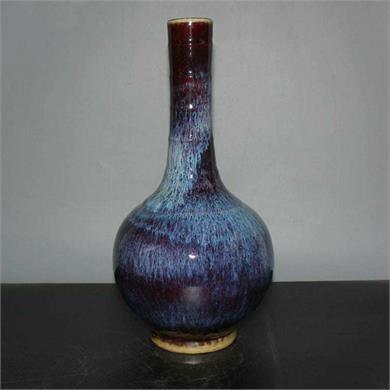 窑变釉天球瓶